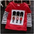 2016 new baby girls Long sleeve T-shirt newborn clothing spring/autumn cotton newborn cartoon clothes O-neck Striped T-shirts 28