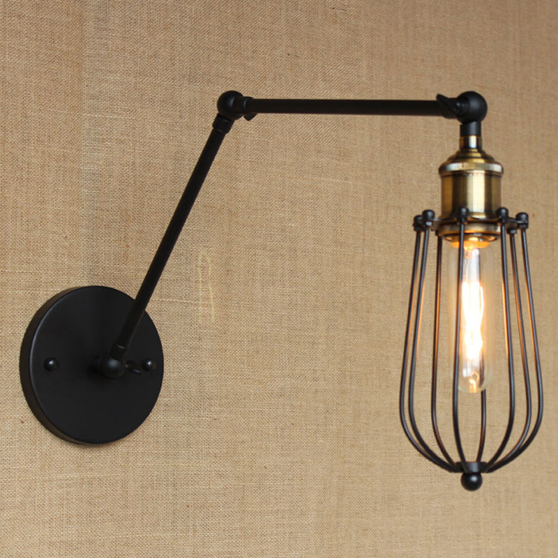 American Country Retro Decoration Livingroom Wall Lamp Art Matal Loft Light Pub Light Aisle Light Cafe Light Free Shipping art deco retro wall lamp american country wall light resin deer horn antler lampshade decoration sconce free shipping