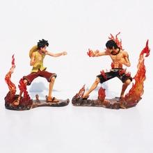 One Piece DX Luffy Ace Brotherhood Figure Toys 2pcs/set 15cm