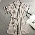 Venta Caliente del verano de Las Mujeres del Satén Peignoir Robe Albornoz Kimono Vestido Sólido Atractivo Del Cortocircuito Del Cordón de Novia de La Boda de dama de Honor Vestido de Bata