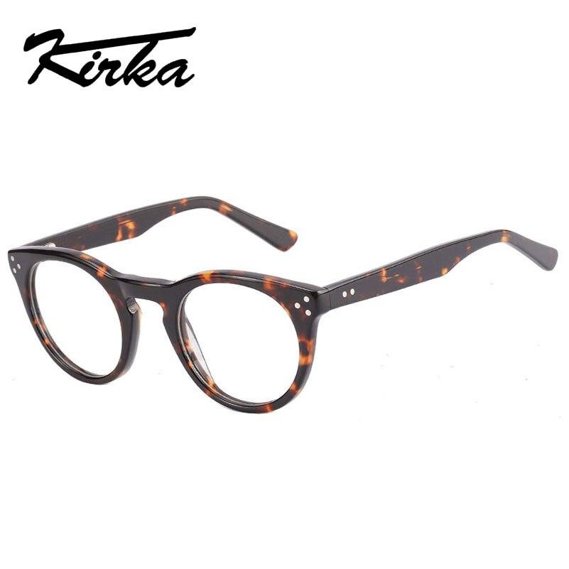 Kirka der Mode Frauen Runde Brille Marke Designer Rahmen Druck ...