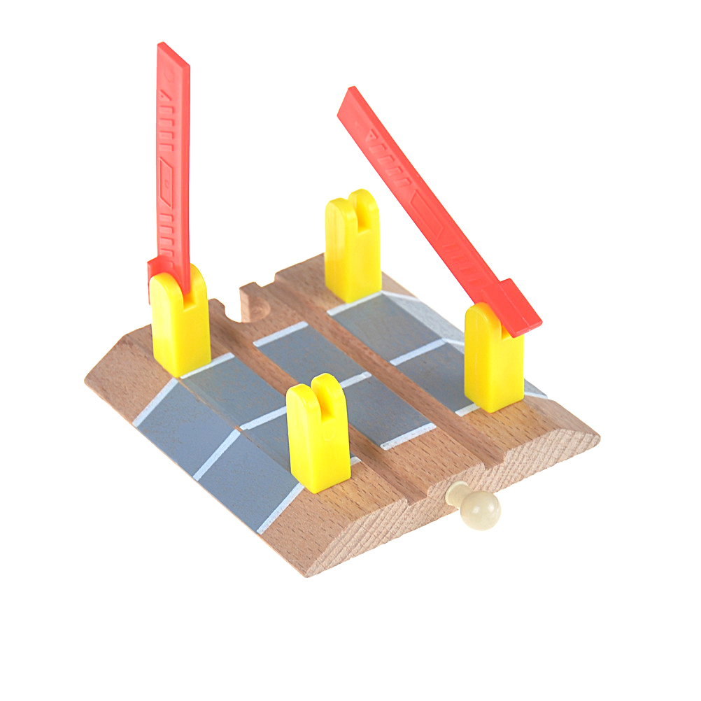 Diecasts & Toy Vehicles Roadblock Wooden Train Track Railway Accessories Railroad Crossing Intersection