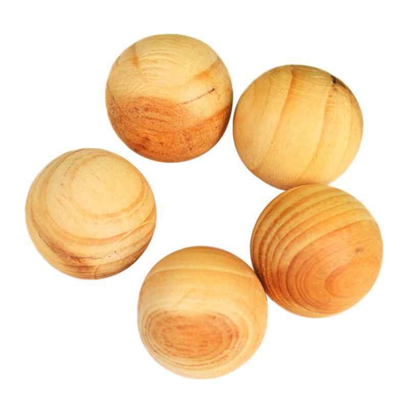 5x camphre boule de bois odeur cèdre tiroir insecte répulsif Mothball huile essentielle