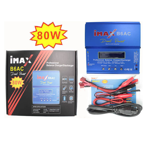 IMax B6AC 80W Digital RC Lipo Lithium NiMh Battery Balance Charger Discharger ocday 1set imax b6 lipo nimh li ion ni cd rc battery balance digital charger discharger new sale