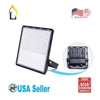 8 Pack Led 150W Outdoor Flood Light with Meanwell Driver,18000LM Daylight White 6000K 6500K Waterproof IP65 Garden Yard Lamp