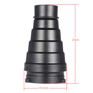 Image 3 - Metal Conical Snoot with Honeycomb Grid 5pcs Color Filter Kit for Bowens Mount Studio Strobe Monolight Photography Flash
