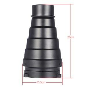 Image 3 - Metalu stożkowe osłona reflektora z siatką w plaster miodu 5 sztuk filtr kolorów zestaw do Bowens Mount Studio Strobe Monolight fotografii Flash