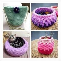 5 Balls New Fancy Yarns for Hand Knitting Thick Thread Crochet Candy-colored Cloth Yarn Ribbon Diy Hand-knit Wool Kennel Yarn