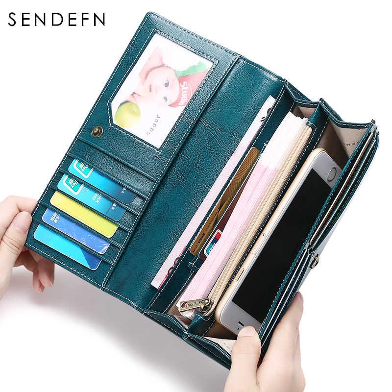 Sendefn качественный Новый женский кошелек, Длинный кошелек большой емкости кошельки кожаные женские образцы стиль Carteira Feminina 5159-68
