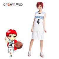 Coshome Kuroko No Basuke Akashi Seijuro Cosplay Costumes Basket Uniforms Men Women Sportswear Clothes Top Shorts Set For Summer