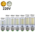 220V 240V Mini LED Lamp E27 SMD5730 LED Corn Light Lampada LED Bulb High Lumen 24/36/48/56/69/81/89LEDs Chandelier Lights