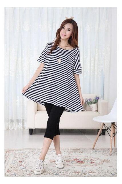 Nueva Maternidad Tops Tee Ropa de La Camiseta Del Palo de Manga Corta summer clothing para el embarazo las mujeres embarazadas de la raya roupa de gravida B51