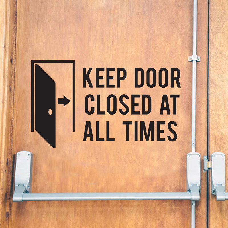 Keep Door Closed At All Times Store Business Decal Vinyl