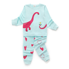 Children's Pajamas Set Dinosaur Print Boys and Girls Sleepwear Cotton Long Sleeve Kids Pajamas Cartoon Jurassic World Clothes bear print cotton pajamas set