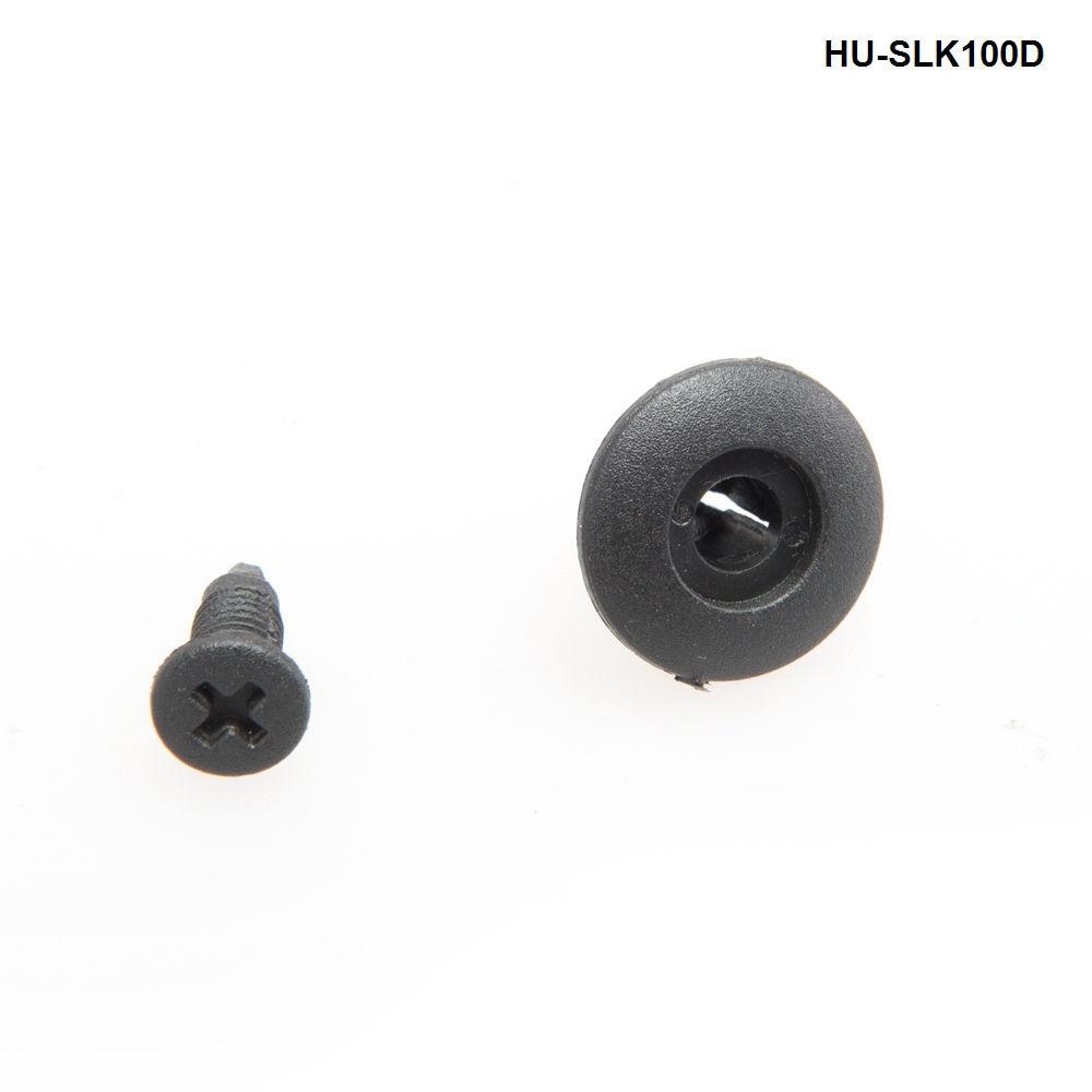 100 Pcs 8mm Hole Beige White Plastic Rivets Fasteners for Car Bumper Fender