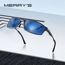 نظارات شمس أنيقة للرجال من ميري مصنوعة من سبائك الألومنيوم نظارات شمس مستقطبة عالية الوضوح للرجال للرياضة في الهواء الطلق UV400 حماية S8266