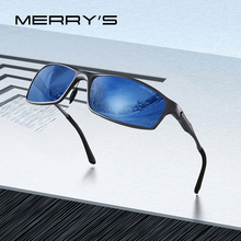 MERRYS Men Fashion Aluminum Alloy Sunglasses HD Polarized Sun glasses For Men Outdoor Sports UV400 Protection S8266