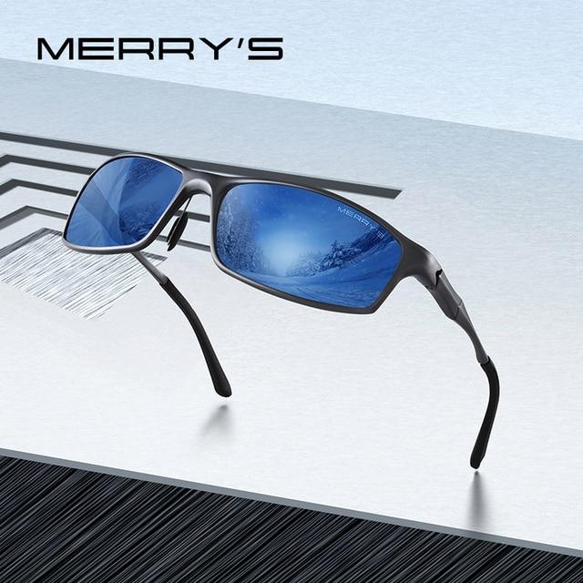 MERRYS DESIGN ผู้ชายโลหะผสมอลูมิเนียมคลาสสิกแว่นตากันแดด HD แว่นตากันแดด Polarized กีฬากลางแจ้ง UV400 ป้องกัน S8266
