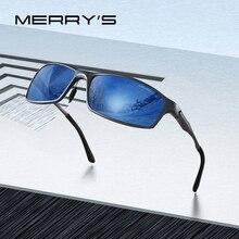 MERRYS tasarım erkekler klasik alüminyum alaşım güneş gözlüğü HD polarize güneş gözlüğü erkekler için açık spor UV400 koruma S8266