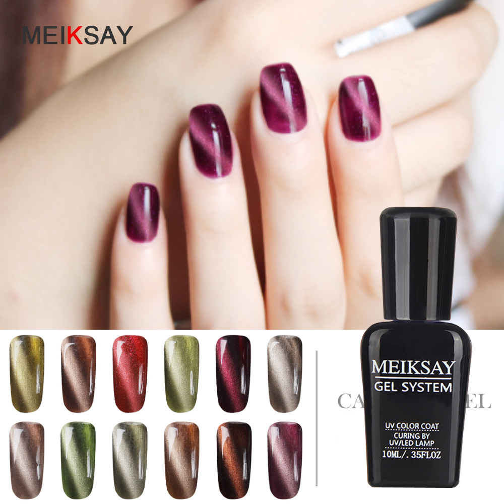 ღ Ƹ̵̡Ӝ̵̨̄Ʒ ღMEIKASAY UV Gel Cat Eye Gelpolish 10ml Cat\'s Eye ...