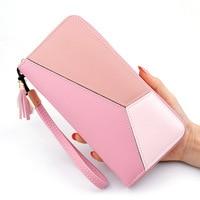 Tassel Wallet Women's Pu Leather Purse For Women Clutch Girl Wallets Long Leather Zipper Wallet Ms Business Money Bag