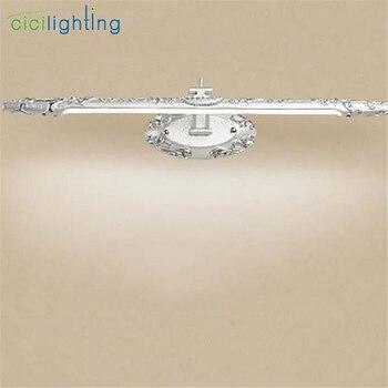 110 V-240 V 9 W 60cm Resina Europeia Led Frente Espelho Lâmpadas Banheiro Armário De Cozinha Led Prata Vintage Luminaria Luzes Led