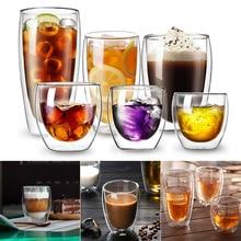 Двухслойная стеклянная чашка для питья чая кофе латте сок товары для дома, кухни LBShipping