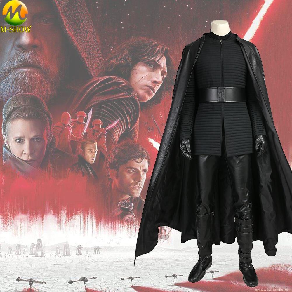 Star Wars 8 The Last Jedi Kylo Ren Cosplay Costume Adult Men Cosplay Vest Pants Custom