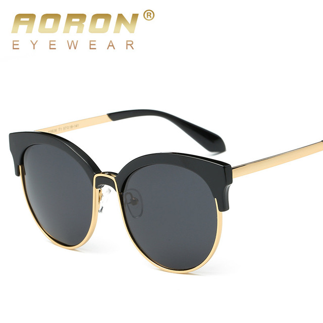 AORON Women Brand Designer Polarized Sunglasses Metal Frame oculos de sol Classic Glasses Anti Glare Goggles Leisure Eyewear