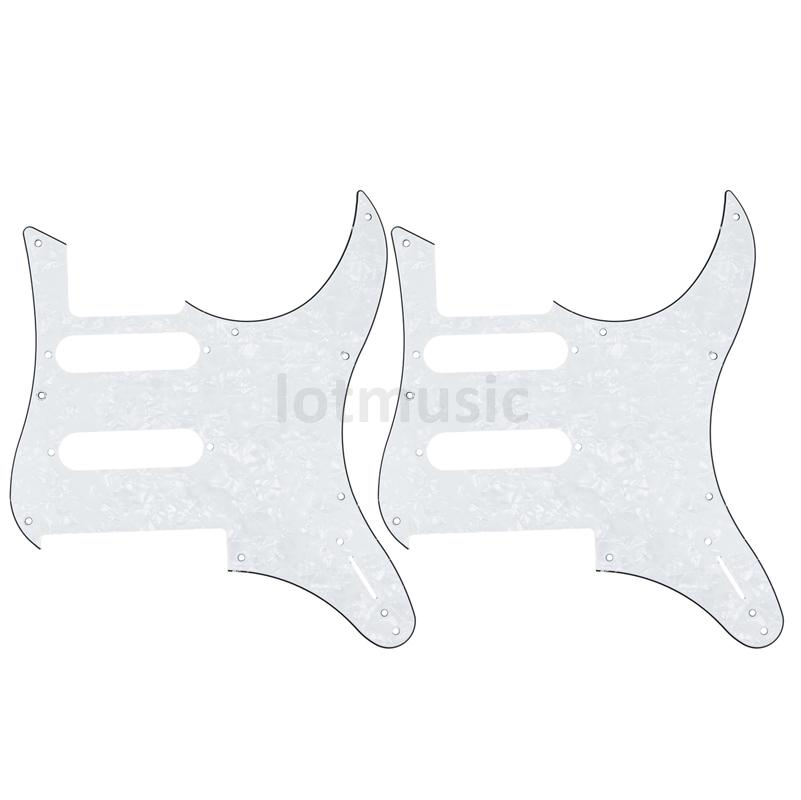 2 pcs electric guitar pickguard for yamaha pacifica 112v replacement 3ply white pearl in guitar. Black Bedroom Furniture Sets. Home Design Ideas