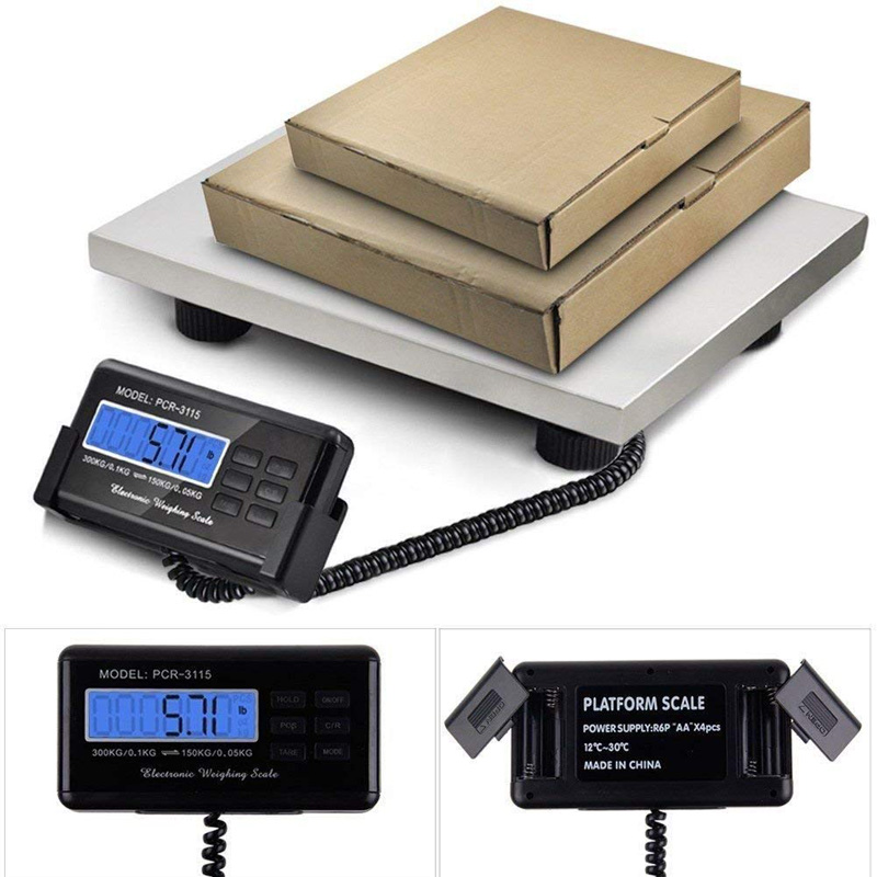 PROFESSIONAL 300KG HEAVY DUTY POSTAL PARCEL SCALES WEIGHING STAINLESS STEEL