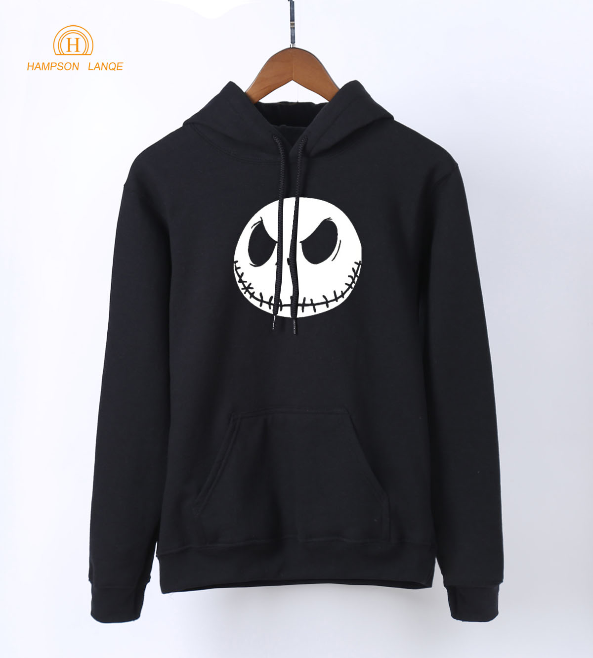 HAMPSON LANQE Halloween Town Pumpkin King Jack Skellington Funny Women Hoodies 2018 Spring Harajuku Sweatshirts Anime Hoodie
