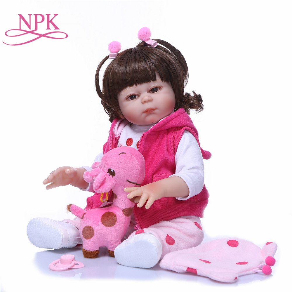NPK Real 48CM Full Body SIlicone Girl Reborn Babies Doll Lifelike Newborn Princess Bebe Girl Doll Toys Playmate for ChildrenNPK Real 48CM Full Body SIlicone Girl Reborn Babies Doll Lifelike Newborn Princess Bebe Girl Doll Toys Playmate for Children