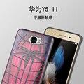 Para huawei y5 ii caso para huawei y5 2 y5 ii volta cobrir 3D Estéreo Pintura Alívio Magro TPU Macio Casos de Telefone de Silicone Funda Capa