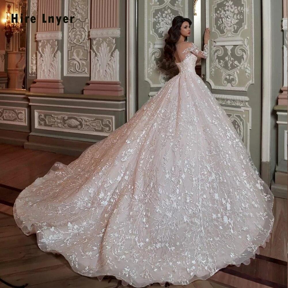 Robe De Mariee Princesse De Luxe 2019 Glanzend Kristal Kralen Taille Luxe Kant Baljurk Trouwjurken Alibaba Online Winkelen - 2