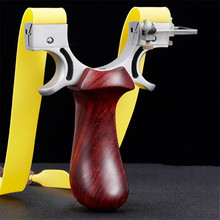 Slingshot Hunting Powerful Wood + Stainless Steel Catapult with Sight Rubber Band Outdoor Shooting High Quality New