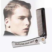 цена на Foldable Hair Comb Pocket Clip Hair Moustache Beard Comb Hair Styling Tool Hairdressing Hair Comb For Men Women Combs