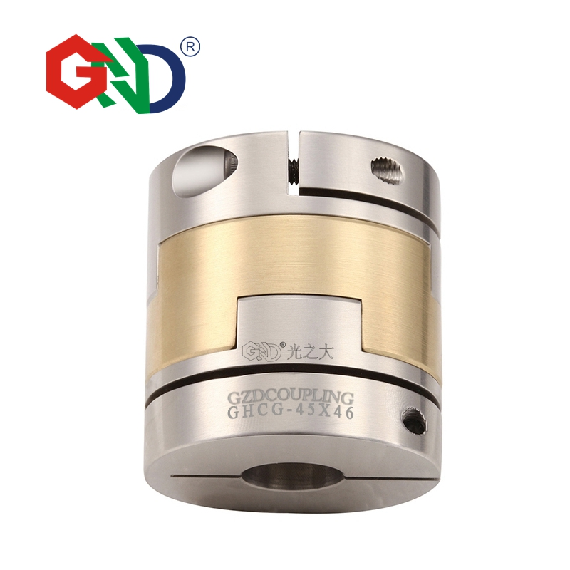 GHCG Stainless flexible coupler 5mm 8mm high torque oldham clamp series not jaw spider CNC shaft coupling
