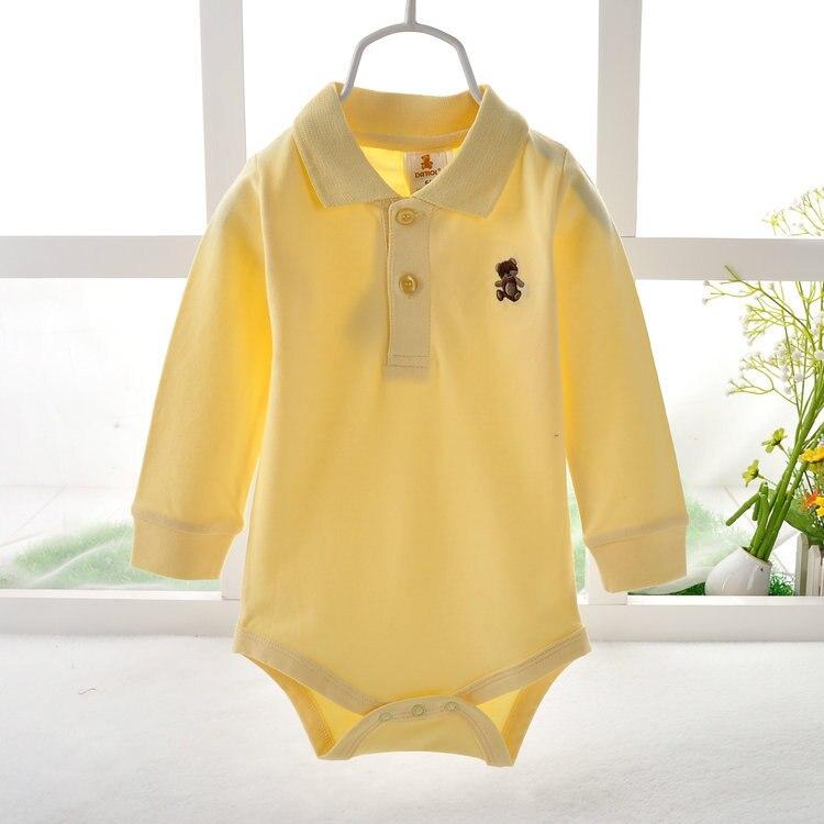 Long Baby Boy POLO Bodysuits Long Sleeve body bebe bodysuit baby boy clothes jumpsuit