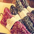 Linha pesada japonês Harajuku estilo folk casal meias de lã meias de inverno retro minimalista maré meias de todos os jogos