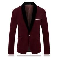 2018 CIGNA Brand Men Long Sleeve Suit Jacket Blue Wine Red Fashion Business Banquet Wedding Men's Dress Jackets
