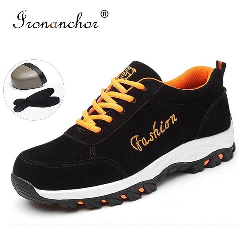 2019 Steel Toe Boots Men Steel Mid-plate Construction Anti-smashing Anti-slip Ankle Classical Work Women Safety Shoes #SK604