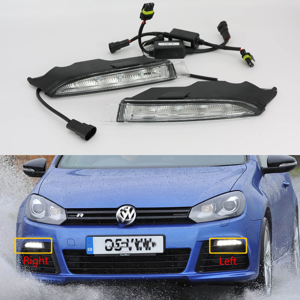 Car LED Light LED DRL Daytime Running Light For VW Golf 6 MK6 R20 2009 2010 2011 2012 2013 Car-Styling Car LED Light LED DRL система освещения for all car 2 7w 18 led drl