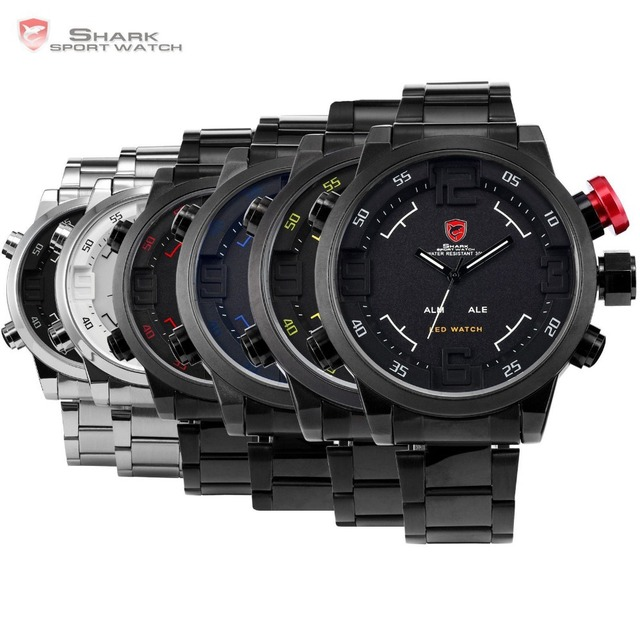 SHARK Sport Watch Calendar Digital Army Quartz Military LED With Luxury Package 2