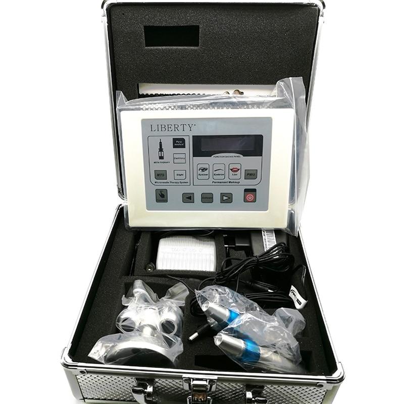 Professional Liberty eyebrow digital permanent makeup tattoo machine kit with 2pcs tattoo pen and 20pcs needle