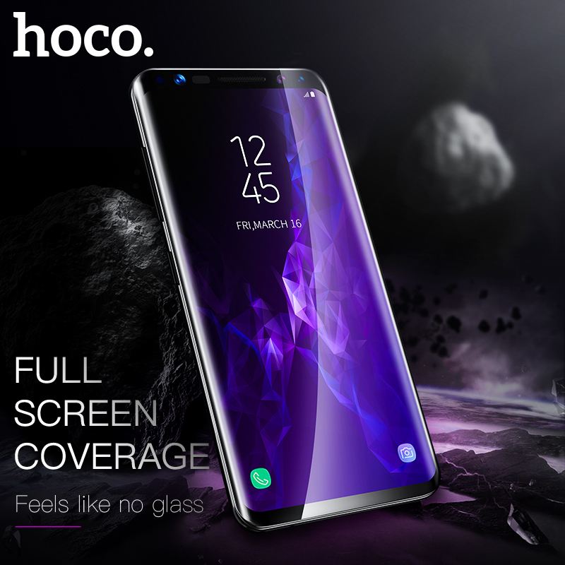 HOCO 9H Tempered Glass Film Full Curved Screen Protector For Samsung S8 / S9 Plus 3D Protective Tempered Glass Ultra Thin 0.33mm