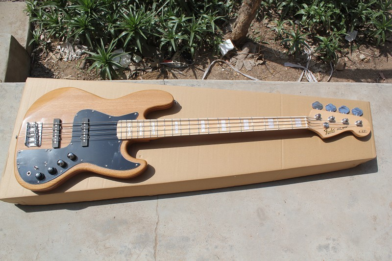 Guitar Factory High Quality Baixo F Marcus Miller Signature Jazz Bass 5 String Cream White Bass Guitar In Stock 15 9