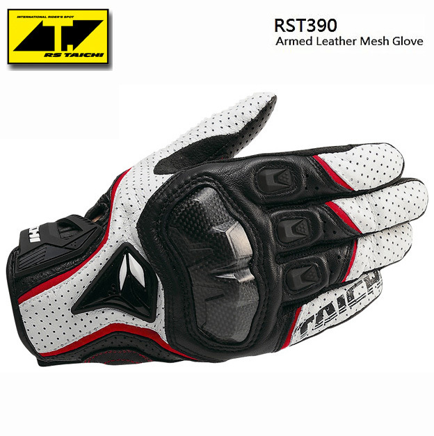 <font><b>The</b></font> <font><b>Latest</b></font> <font><b>RS</b></font> <font><b>TAICHI</b></font> RST390 <font><b>Armed</b></font> Leather Mesh Gloves Motorcycle riding gloves Knight gloves MKrider