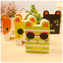 4pcs/lot 12 * 8.5cm Cool Meng Small Animal Note Book Portable Mini Mind Creative Palm Sketches Cute Schedule