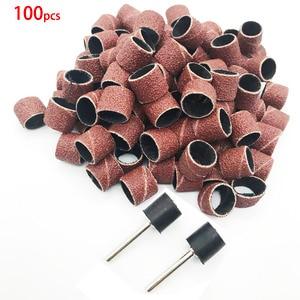 Image 2 - Bandas de lixa mangas e 2 mandris, 100 peças, moagem elétrica de lixa de polimento, círculo de areia